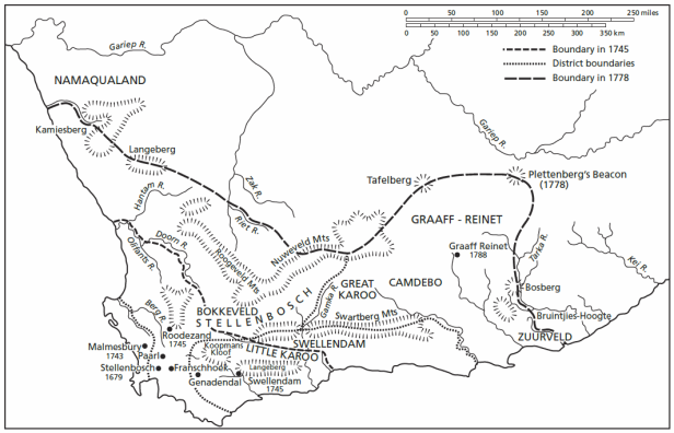 Figure 1_expansion of white settlement during the VOC period at the Cape